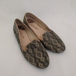 Sam & Libby 9 smoking slippers flat fabric loafers